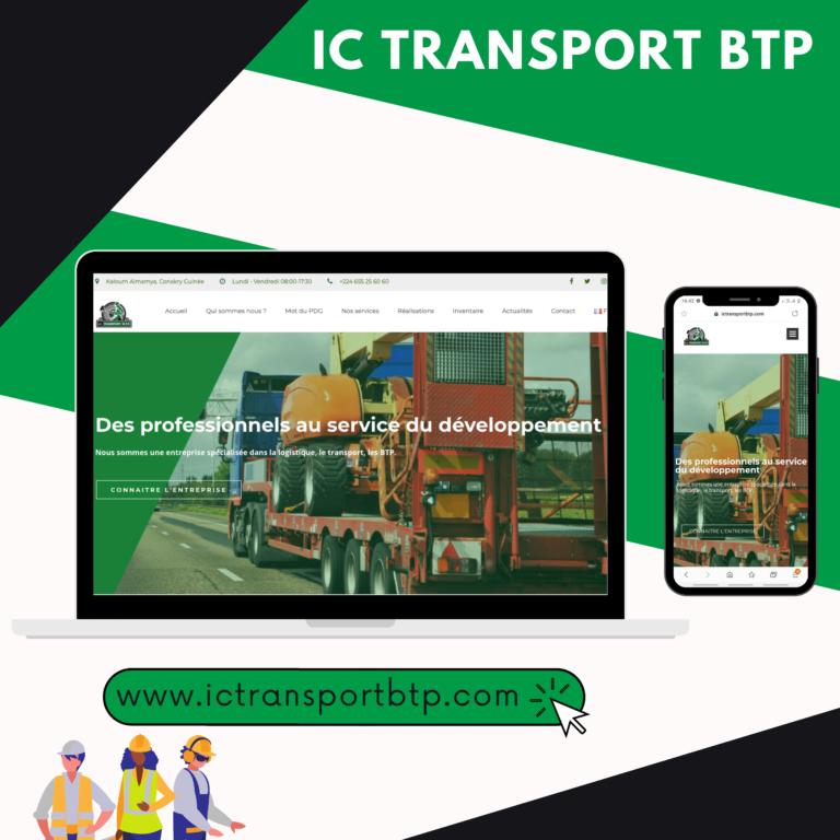 Projet IC TRANSPORT BTP